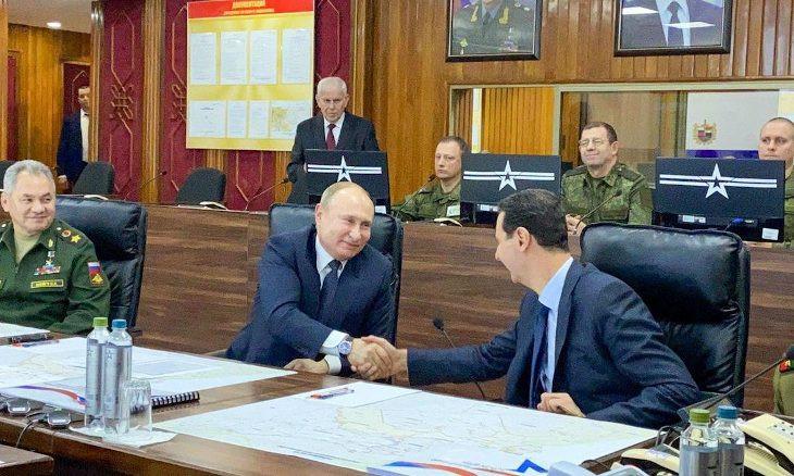 Putin jokes Syria's Assad should invite Trump to Damascus
