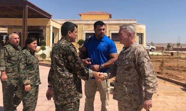 U.S. commander meets with  SDF leader Kobani, promises continued collaboration