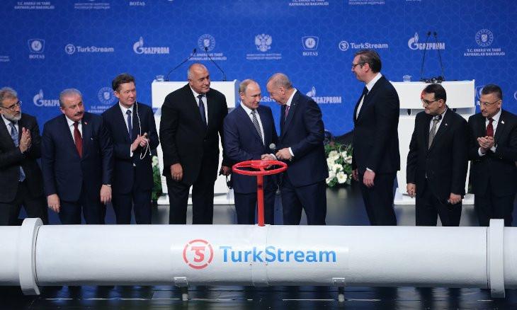 Putin, Erdoğan launch TurkStream gas pipeline