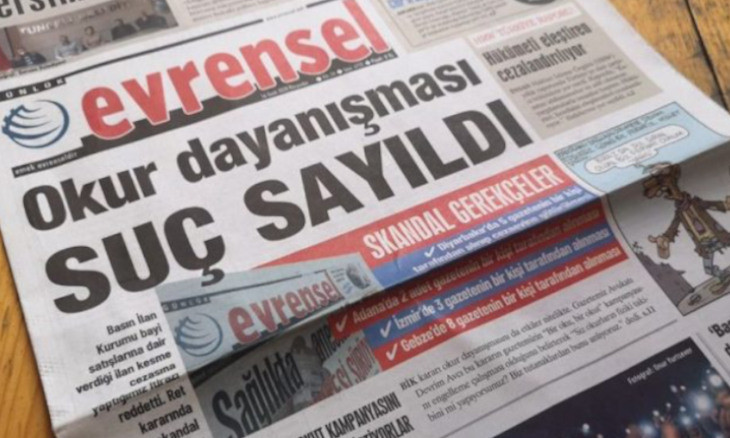 Members of the EP urge Turkey to end the public advertising ban on daily Evrensel