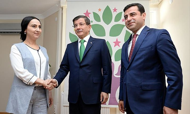 Davutoğlu accepts existence of the 'Kurdish issue' but wouldn't negotiate with HDP