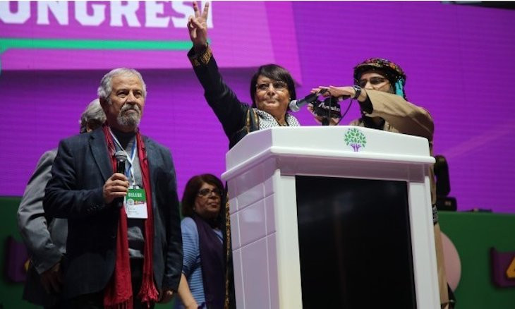 Iconic liberation activist at HDP congress:  Long live Palestine, long live Kurdistan!