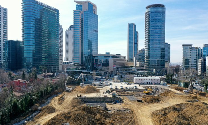 Mosque being built on multi-billion liras worth of land in Istanbul's Levent