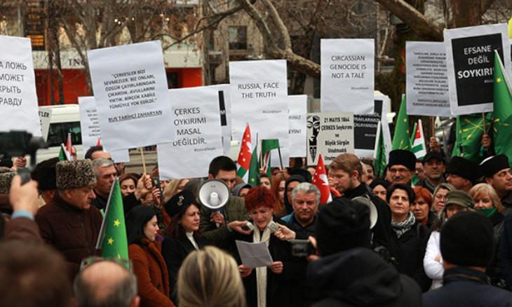 Turkey's Circassians protest Russian Ambassador Erkhov over 'genocide-denial' remarks