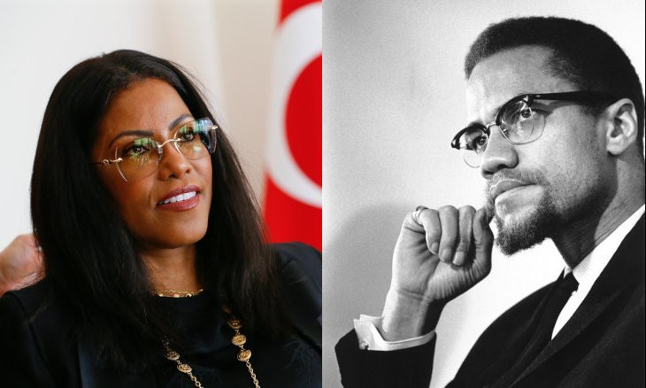 Malcolm X still role model, daughter claims while visiting Turkey