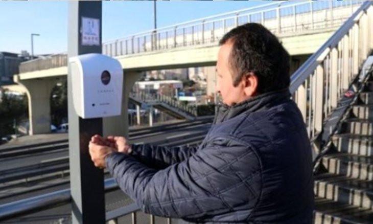 Hand sanitizer dispensers installed at metrobus stops amid coronavirus fears broken by assailants