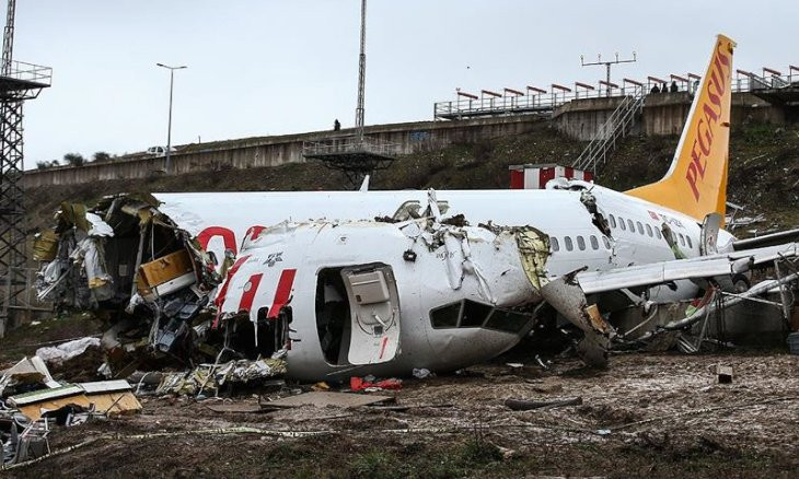 Pilots of crashed Pegasus flight failed to brake aircraft on time, says preliminary report