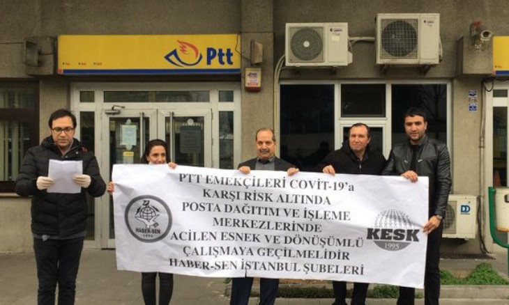 Turkish postal employees worried about the lack of basic coronavirus precautions at workplace