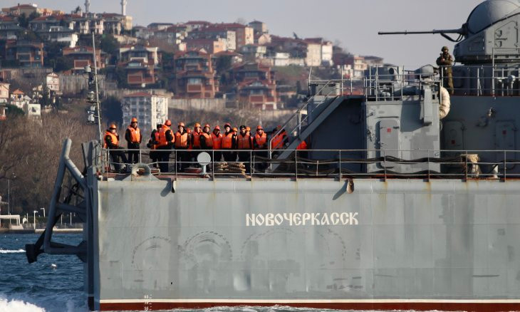 Russia sends another warship to Syria through Bosphorus amid Idlib escalation