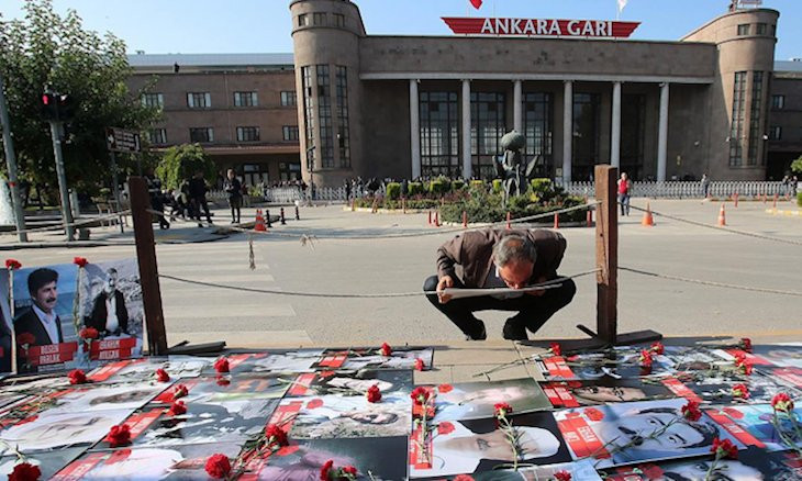 Ankara train station square to be redesigned to commemorate 2015 peace rally victims