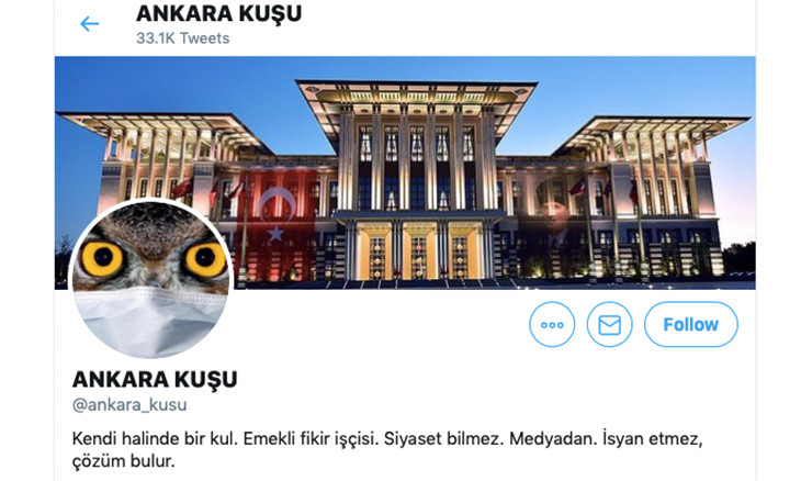 """Ankara Bird"" Twitter personality, citizen journalist detained by police"