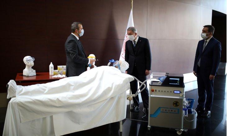 Turkey's Defense Ministry unveils prototype of locally made ventilator