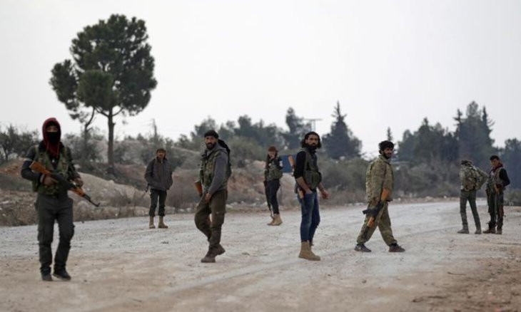 Turkish-backed Syrian rebels fight each other as they exchange fire
