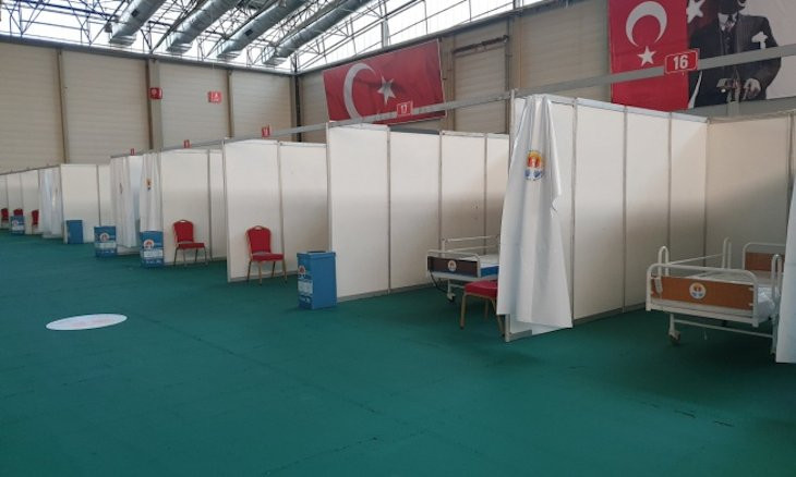 Provincial health authority seals off field hospital built by Turkey's main opposition