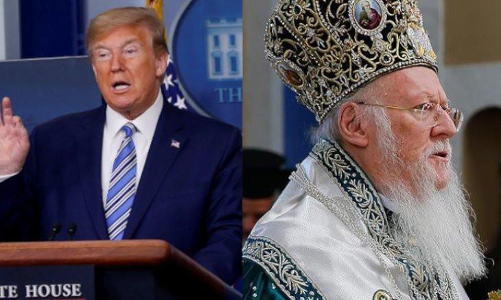 Trump calls Patriarch Bartholomew