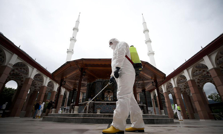 Turkey's top religious authority mandates masks and social distancing for worshippers as mosques reopen