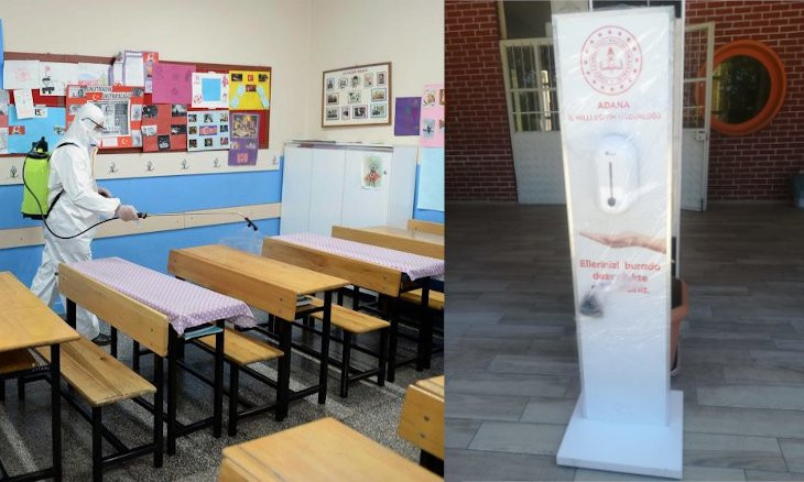 Adana education authorities ask schools for money for hand sanitizer dispensers