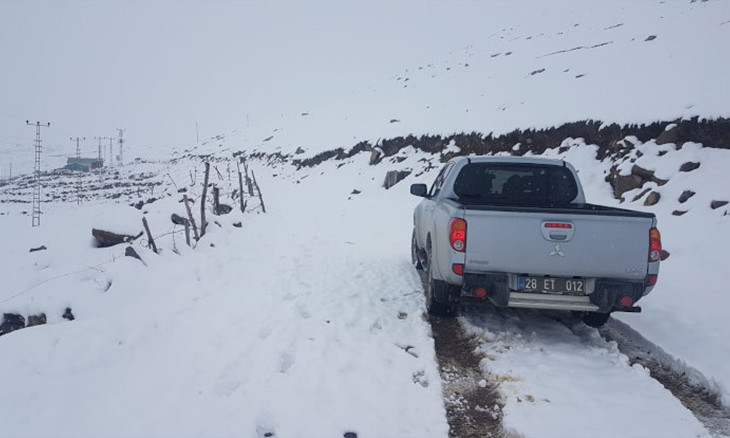 High altitude regions in northern Turkey receive seasonally abnormal volume of snowfall