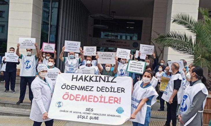 Turkey's healthcare workers protest gov't for widening wage gap with coronavirus bonus