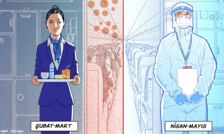Turkish Airlines flight attendant recounts her fears of working at the outset of the COVID-19 outbreak