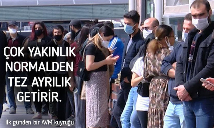 Turkish Health Minister warns on first day of reopening: Being too close will bring an early separation