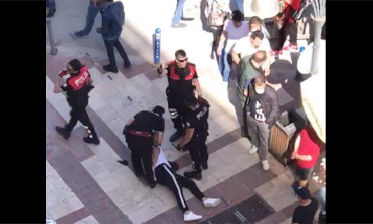 Police detain man for not wearing mask in Kuşadası