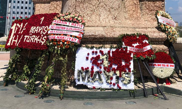Istanbul's May Day under COVID-19 measures ends up with detentions, police confrontation, a destroyed wreath
