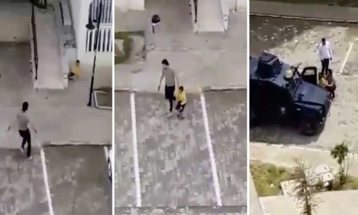 Turkish policeman beats child with disabilities after using gun to disperse kids on the street
