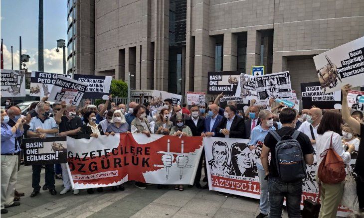 Istanbul court releases three journalists, keeps three others behind bars for officer's funeral report