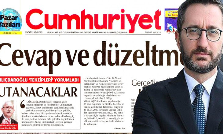 Turkish daily forced to publish 3 disclaimers over report on presidential aide's controversial construction
