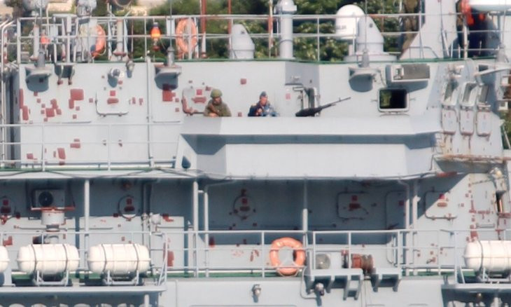Russia sends military cargo to Syria through Bosphorus