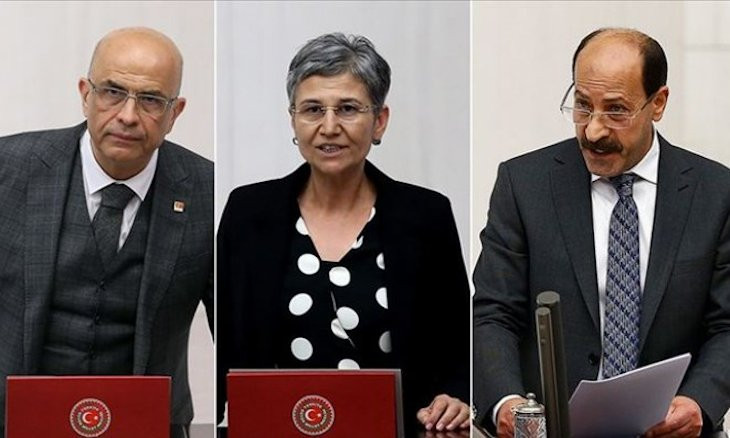 Three opposition deputies stripped of MP statuses in Turkey