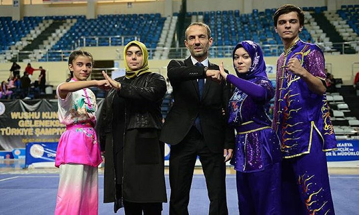 Daughter of Turkish martial arts federation official joins championship as competitor and referee