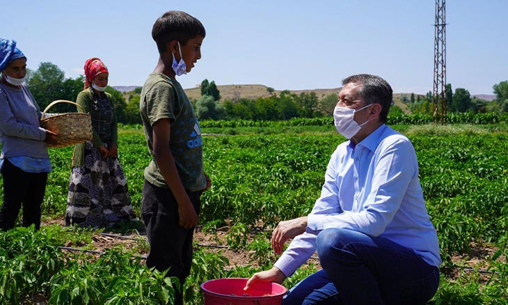 Turkish Education Minister draws ire for normalizing child labor in visit to kids working in fields