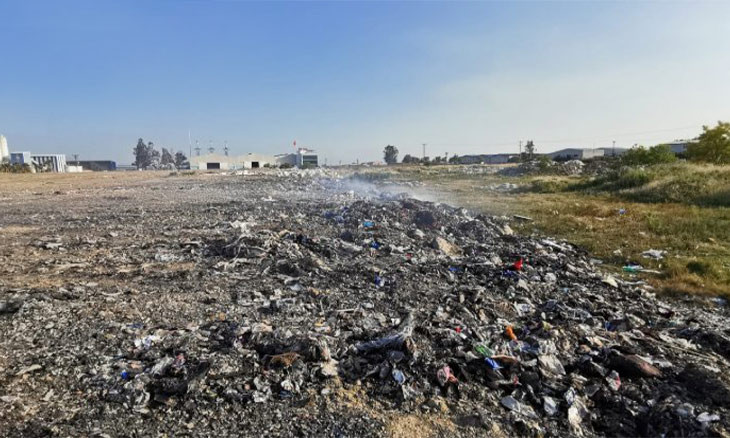 Plastic waste from the UK burned in southern Turkey, endangering resources