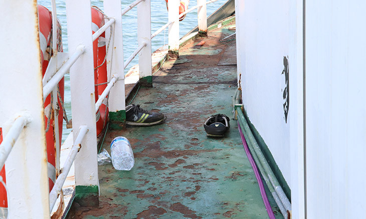 Hundreds of migrants discovered on western Turkey boat, eight smugglers detained
