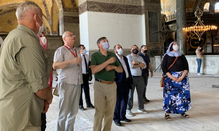 US envoy visits Hagia Sophia to see restoration works after its conversion into a mosque