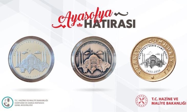 Special coins minted for first Friday prayers in Istanbul's Hagia Sophia