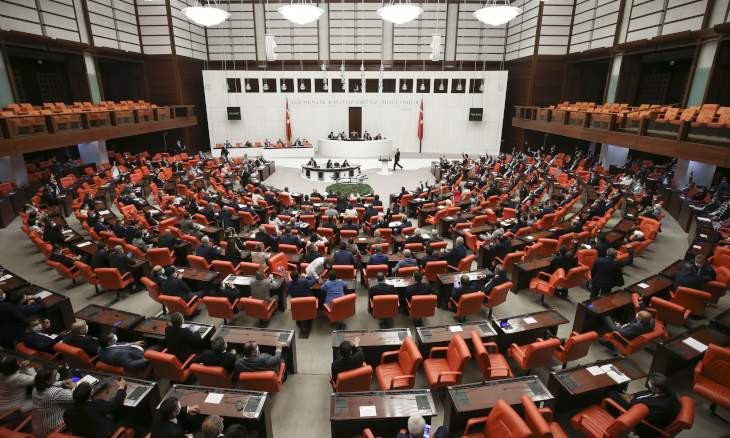 Turkish parliament only hears ruling AKP's draft bills in general assembly, speaker's office reveals