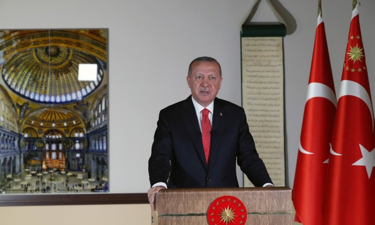 Erdoğan in 2019: I have not lost my direction as to get played into converting Hagia Sophia