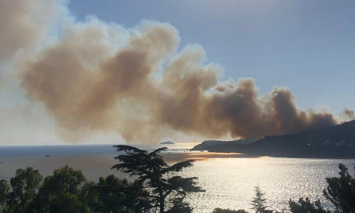 Forest fire erupts on Istanbul's Heybeliada