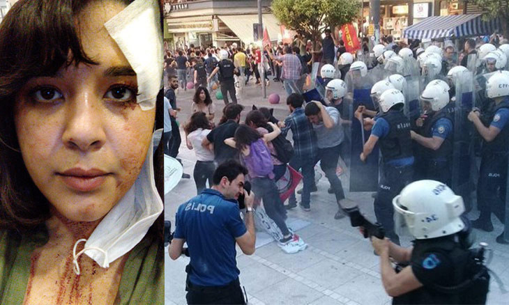Turkish police brutally disperse Suruç bombing commemorations, rip photos of victims