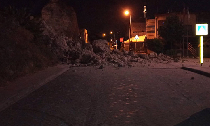 Part of Istanbul's ancient city walls collapses in historic Sulukule neighborhood