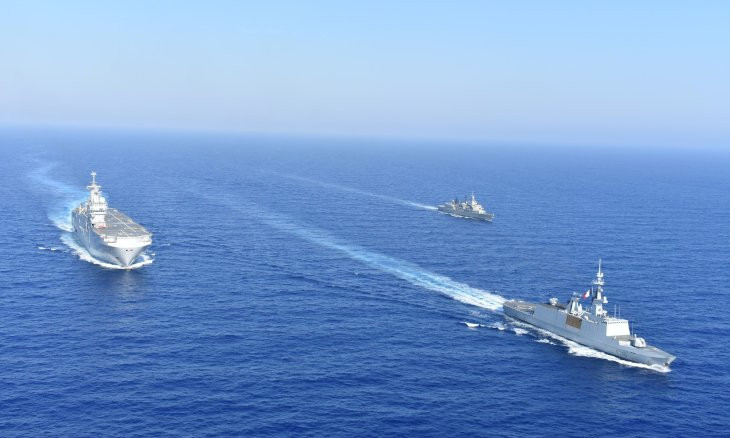 France joins military exercises in east Mediterranean