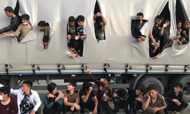 167 migrants struggling to breathe rescued from back of lorry in Turkey's north