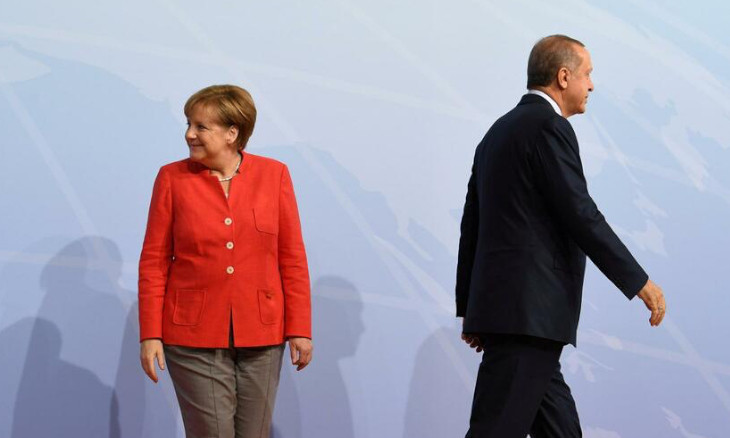 A chancellor who has realized the futility of scuffling with Erdoğan
