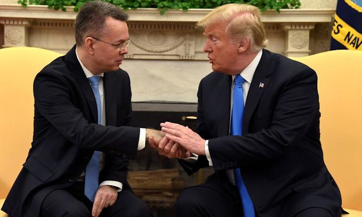 Trump tells Brunson held behind bars for two years in Turkey that Erdoğan 'was very good'
