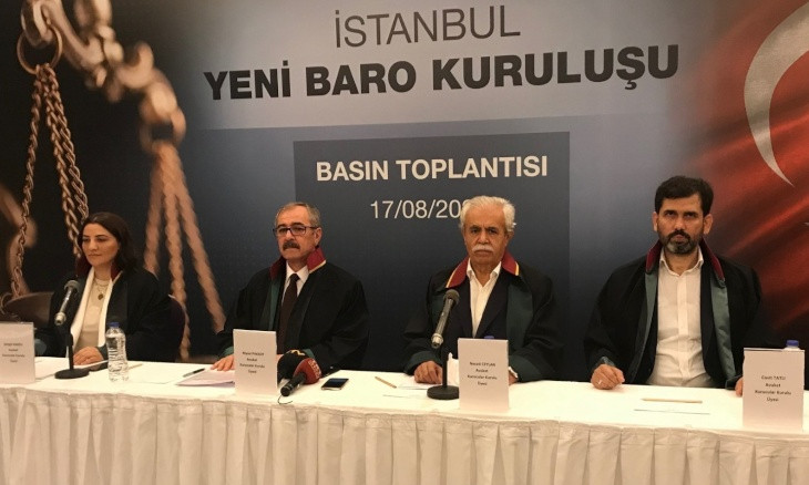 Pro-gov't lawyers gather 2,000 signatures required for formation of new bar association in Istanbul