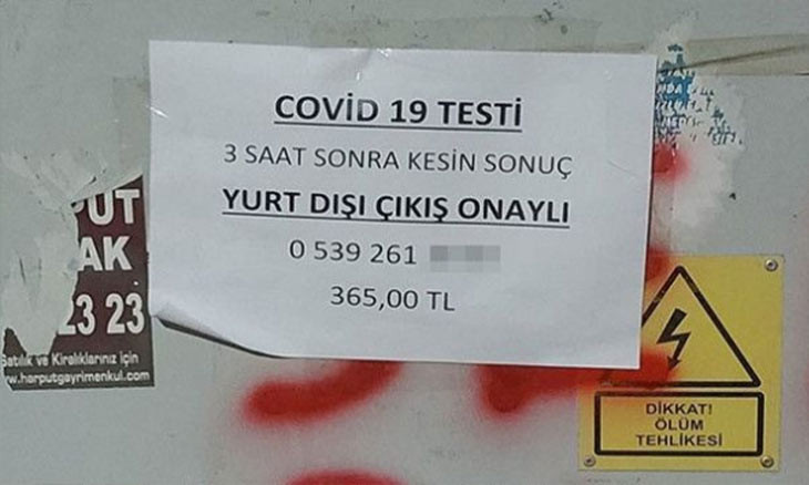Adverts for fake 'three-hour' COVID-19 tests circulate Turkish capital
