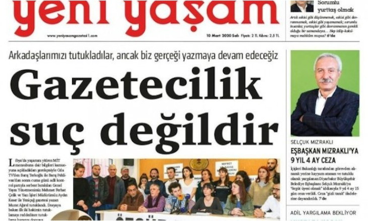 Turkish court bans access to website of daily Yeni Yaşam
